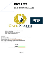 Wine List Cape North Distribution 2012