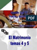 El Matrimonio Temas 4 y 5