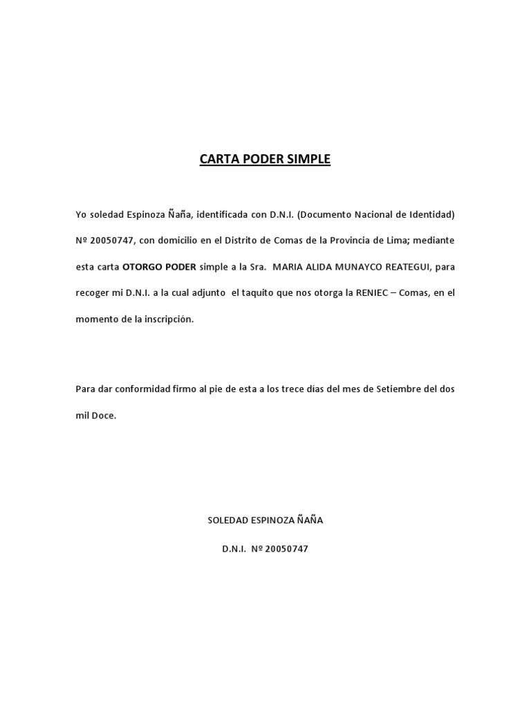 Carta de autorizacion para recogida de documentos
