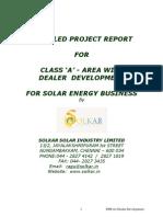Solar Energy Project Report - Classa - Revised Nov 2011