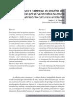 Pelegrini, Sandra. Cultura e natureza - os desafios das práticas preservacionistas na esfera do patrimônio cultural e ambiental