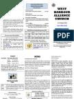 Church Newsletter - 21 October 2012