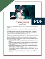 Vampirism, By Aracon E'Kerion