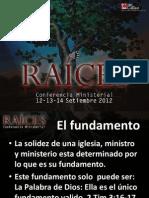 Conferencia Ministerial Raices 1