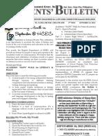 Parents Bulletin No. 11, s. 2012