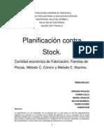 planificación contra stock