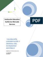 VALORACIÓN, CONSERVACIÓN Y DEFENSA DEL PATRIMONIO HISTÓRICO