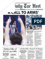 The Daily Tar Heel for October 17, 2012
