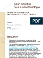Publicación científica aplicada a la nanotecnología