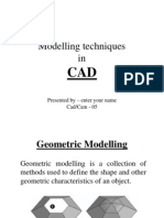 Modelling Techniques in CAD