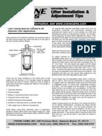 Crane Cams-Hydraulic Lifter Adjustment
