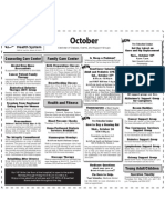 Beloit Health System Class Calendar for October