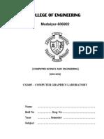 CS2405 Cg Lab Manual