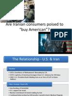 Iranian Consumer vs U.S.