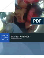 Rapport Human Rights Watch - Death of a dictator