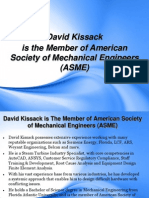 David Kissack is the Member of American Society of Mechanical Engineers (ASME)