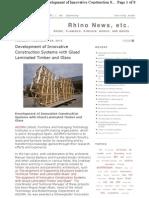Noticia en RHINO news sobre proyecto innovador de construcción