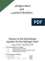 L27 H Atom Quantum Numbers