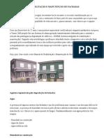 Manual de Reabilitação e Manutenção de Fachadas