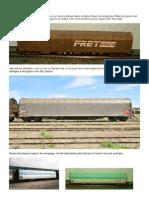 """Modélisme ferroviaire à l'échelle HO. 7. les wagons """"Rils"""" par Hervé Leclère. 2012"""
