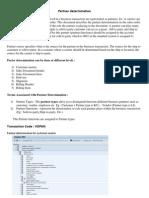 Partner Determination Procedure SAP SD