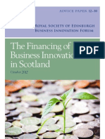 The Financing of Business Innovation in Scotland