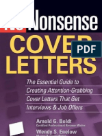 No-Nonsense Cover Letters