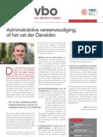 Administratieve vereenvoudiging of het vat der Danaïden, Infor VBO 32, 18 oktober 2012