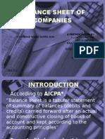 Balance Sheet of Companies