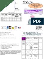 Planning des 6-8ans Octobre 2012