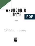 Anorganik Kimya Saim Özkar Kitabı