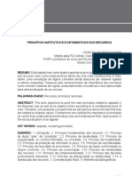 Princípios institutivos e informativos dos recursos