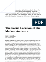 Social Location of the Markan Audience