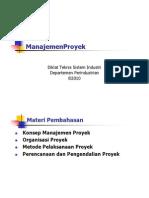 9. Manajemen Proyek