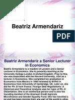 Beatriz Armendariz a Senior Lecturer in Economics