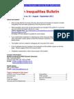 Health Inequalities Bulletin no. 34, August-September 2012