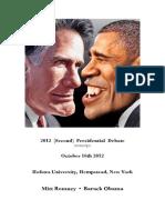2012 (Second) Presidential Debate (Transcript)