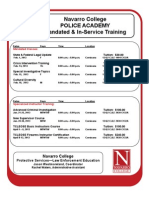 Navarro College Police Academy Mandated and Inservice Training Classes