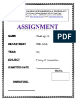 Assignment Front Page
