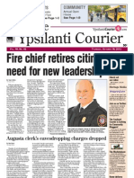 Ypsilanti Courier Front Page Oct. 18, 2012