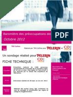 Baromètre des préoccupations des Français - octobre 2012