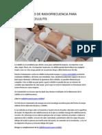 Tratamiento de Radiofrecuencia Para Eliminar La Celulitis