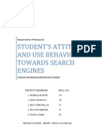Synopsis of Student's Attitude and Behavior towards Search Engines