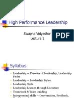 High Performance Leadership_Lec1