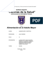 Alimentacion en El Adulto Mayor