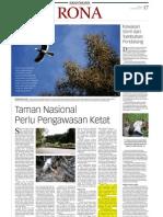 Taman Nasional Perlu Pengawasan Ketat