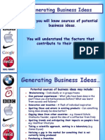 Generating Business Ideas