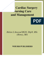 Adult Cardiac Surgery - Nursing Care and Management