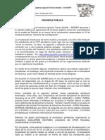 Denuncia Agresiones 12 de Octubre Marcha Pereira