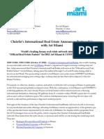 Christie's International Real Estate Announces Partnership  with Art Miami